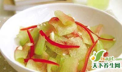 五种不同西瓜皮食疗方
