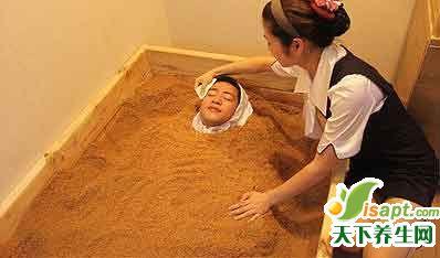 埋沙疗法的神奇功效