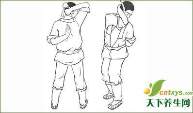 祛病气功:仙鹤饮水解颈痛